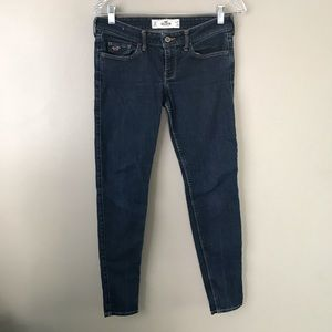 Hollister low rise dark wash skinny jeans